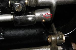 Model 15 -Hook timing set screw (close up)