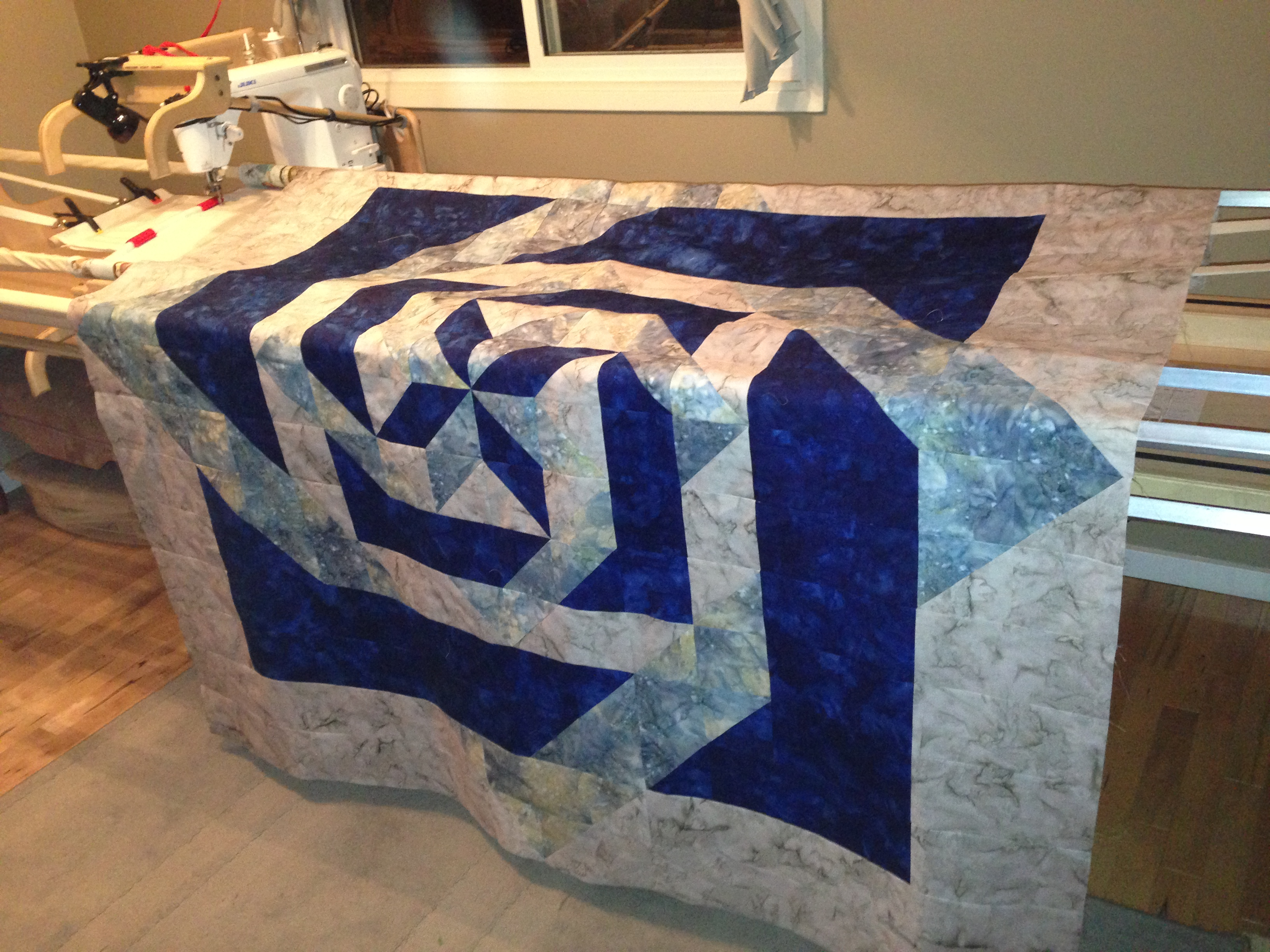 Into the Labyrinth – quilt top is complete | The Archaic and the ... : debbie maddy quilt patterns - Adamdwight.com